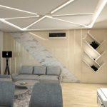 Интериорен дизайн на окачен таван