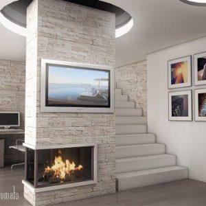 Интериорен дизайн на апартамент в малиново долина